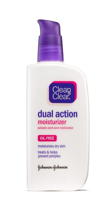 clean & clear dual moisturizer