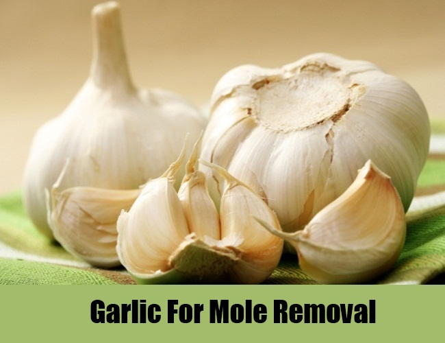 garlic paste for mole removal