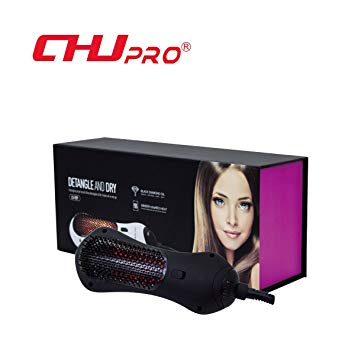 CHJPro Hair Straightening Brush Infrared Mini Hair Dryer