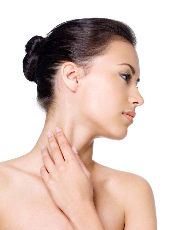 woman neck