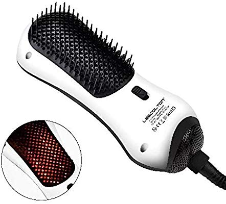 Lescolton Infrared Mini One Step Hair Dryer & Styler Hot Air Paddle Brush