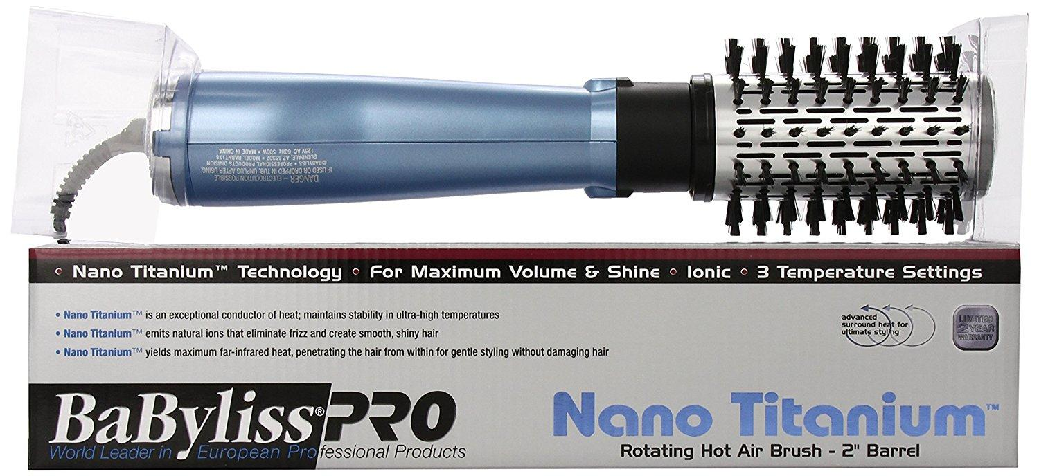 BaBylissPRO Nano Titanium Rotating Hot Air Brush
